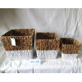 Rectangular Woven Water Hyacinth Flower Pot